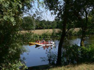 Activité canoé sur l'Evre - Le Marillais
