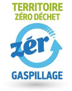 Logo zéro déchet zéro gaspillage