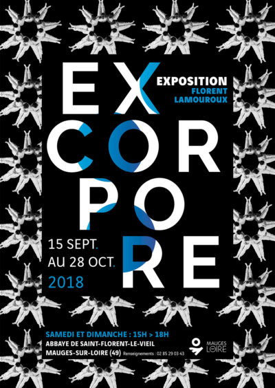 Exposition Excorpore de l'artiste Florent Lamouroux à l'abbaye de Saint-Florent-le-Vieil