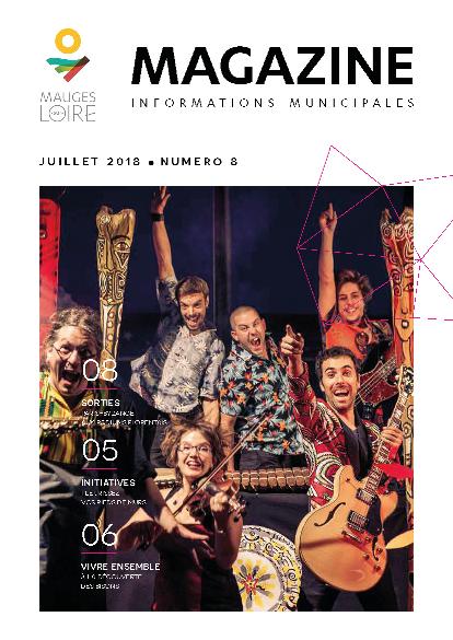Couverture Mauges-sur-Loire Magazine juillet 2018