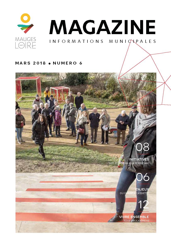 Couverture Mauges-sur-Loire Magazine mars 2018