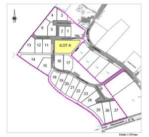 Plan lotissement Les Bareilleries à Bourgneuf-en-Mauges