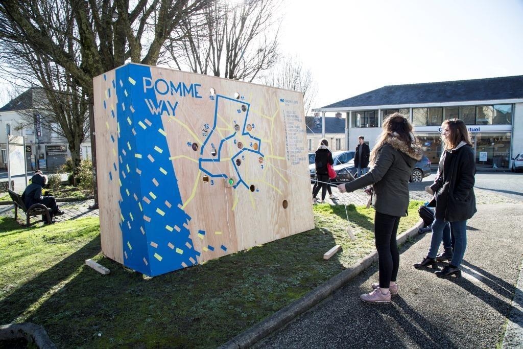 PommeWay - Projet de l'école de design de Nantes à la Pommeraye