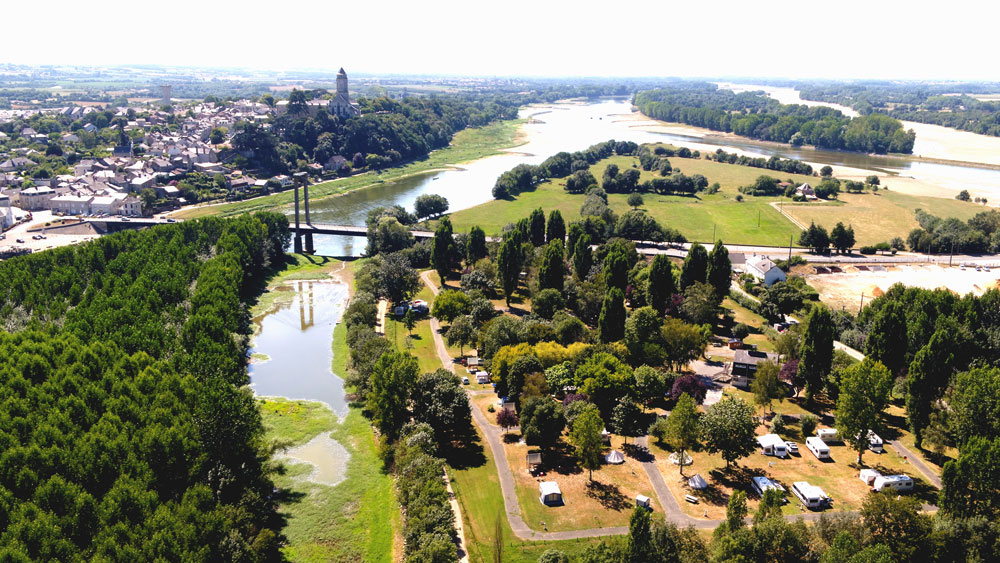 camping ecoloire vue aerienne