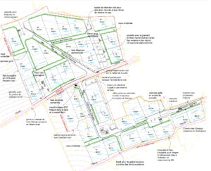 Plan du lotissement Les Varennes au Mesnil-en-Vallée